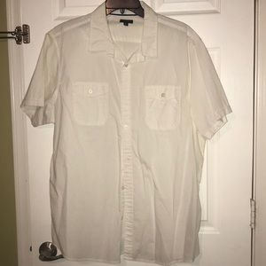 Men's button down shirt, short sleeve APT9